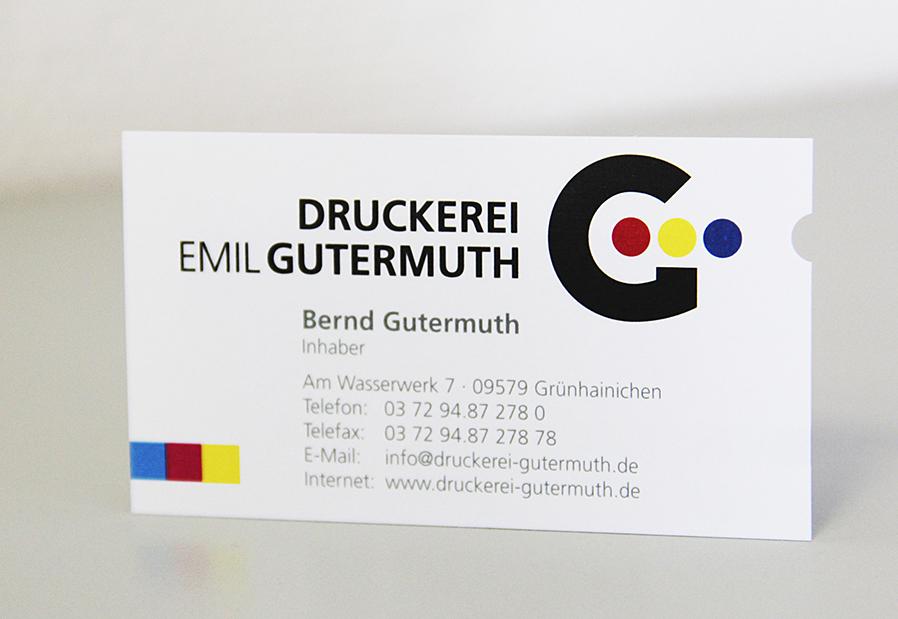Visitenkarte Druckerei Gutermuth
